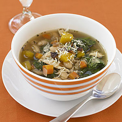 Tuscan Chicken, Bean and Spinach Soup
