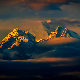 Mt. Kanchenjunga by Edward Lepcha - Landscapes Mountains & Hills
