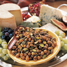 Spicy Toasted Garbanzo Beans and Pistachios