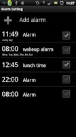Screenshot of ALARM WORLD QLOCK LWP RubyRed