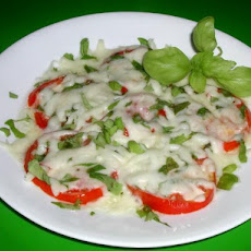 Tomato Basil Gooey Cheese Side Dish