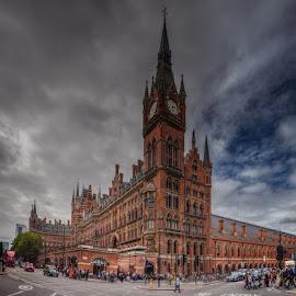 King's Cross St. Pancras Railway Station by Krasimir Lazarov - City,  Street & Park  Street Scenes ( building, uk, london, street, tourism, architecture, cityscape, city )