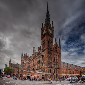 King's Cross St. Pancras Railway Station by Krasimir Lazarov - City,  Street & Park  Street Scenes ( uk, building, london, street, tourism, cityscape, architecture, city )