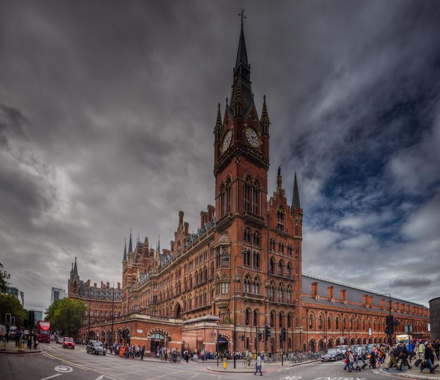 King's Cross St. Pancras Railway Station by Krasimir Lazarov - City,  Street & Park  Street Scenes ( uk, building, london, street, tourism, cityscape, architecture, city )