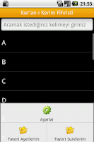 Screenshot of Kuranı Kerim Fihristi, Meali