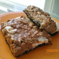 Deluxe Baked Marshmallow Peanut Butter Rice Krispies Squares Bar