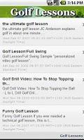 Screenshot of Golf Lessons