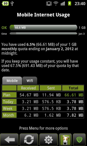 3g-watchdog for android screenshot