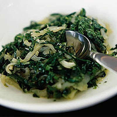 Swiss Chard & Kohlrabi With Lemon Sauce
