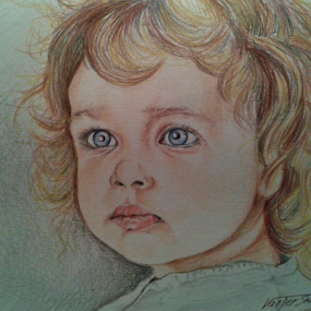 little girl by David Van der Smissen - Drawing All Drawing ( kunst, portret, art, smisch-ddbs, artwork, belgie, ninove )