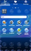 Screenshot of XO Go Launcher Butterfly theme