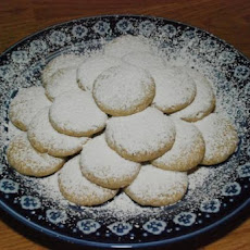 Greek Almond Shortbread Circles