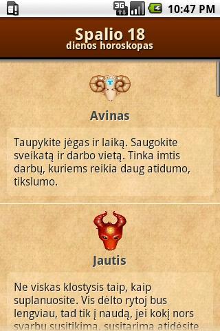 Dienos Horoskopas + Widget