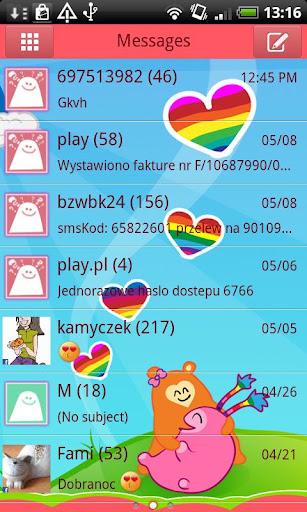 GO SMS Rainbow Theme Free
