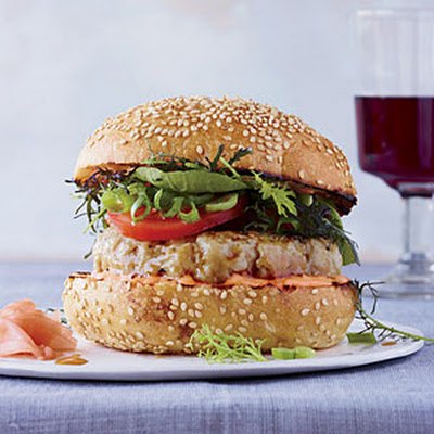 Spicy Tuna Burgers with Soy Glaze