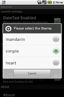 Screenshot of DateTad