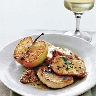 Pork With Sautéed Granny Smith Apples