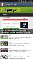 Screenshot of Perú Newspapers