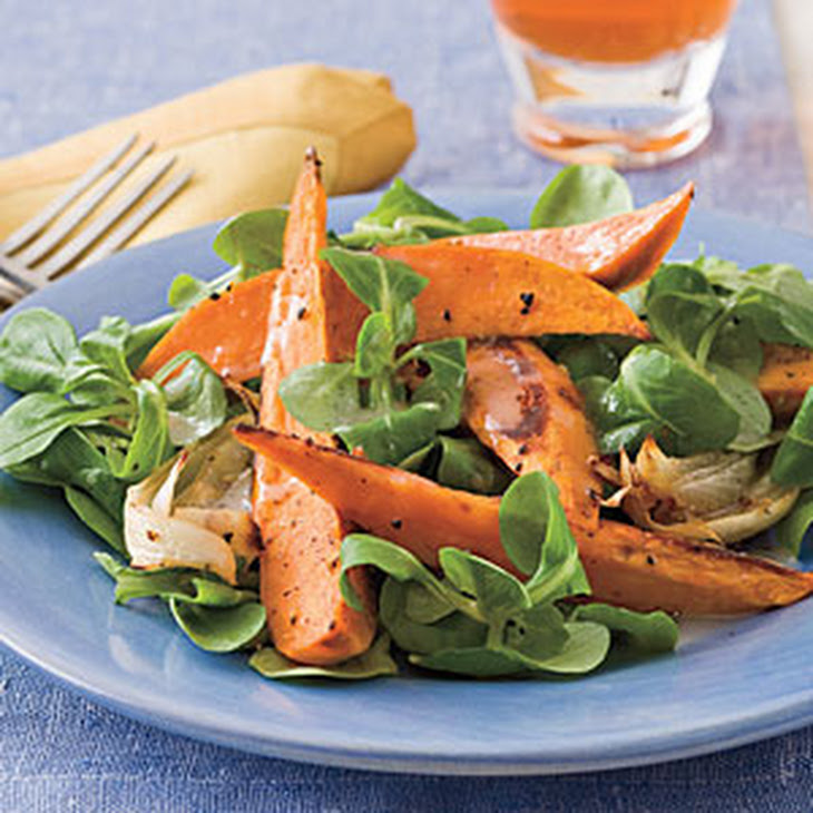 Roasted Sweet Potato Salad With Chutney Vinaigrette Recipes ...