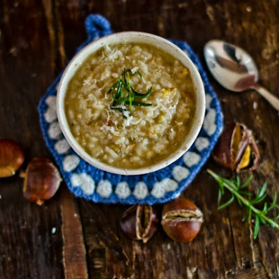 Roasted Chestnuts and Rosemary Risotto