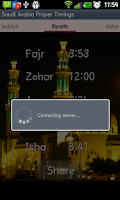 Screenshot of Saudi Arabia Prayer Timings