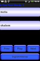 Screenshot of Pocket Polyglot Hebrew