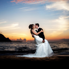 Sunset Love by Ryan Lindberg - Wedding Bride & Groom