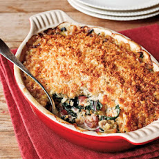 Oyster�Swiss Chard Gratin with Country Bacon