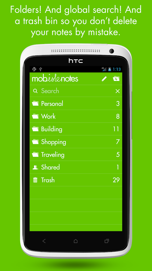 MobisleNotes - Notepad Screenshot 3