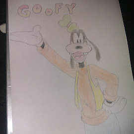 Attempt at goofy with colour :) by Danielle Pye - Drawing All Drawing
