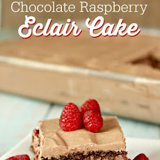 No Bake Chocolate Raspberry Eclair Cake