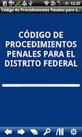 Screenshot of Penal P. Code Distrito Federal