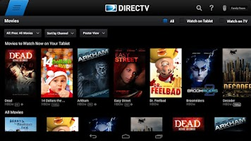 Screenshot of DIRECTV for Tablets