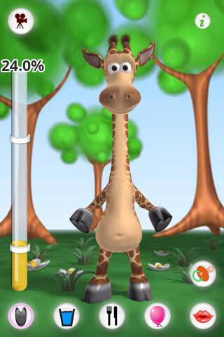 talking-gina-the-giraffe-free for android screenshot
