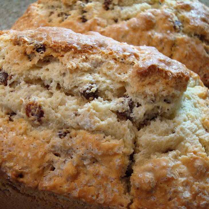 Soda Bread With Port-Soaked Raisins Recipe — Dishmaps