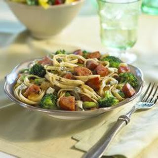 Kielbasa and Broccoli Linguine