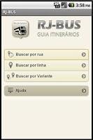 Screenshot of RJ-BUS  Linhas de ônibus