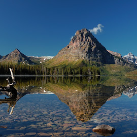 Lake Reflection by Jonathan Abrams - Landscapes Mountains & Hills ( mirror, water, mountains, sky, reflections, lake )