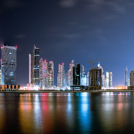 by Fares Ghneim - City,  Street & Park  Skylines ( skyscraper, dubai, uae, burj, reflections, panorama, middle east )