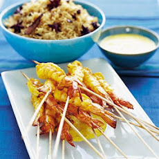 King Prawns In Saffron Almond Sauce