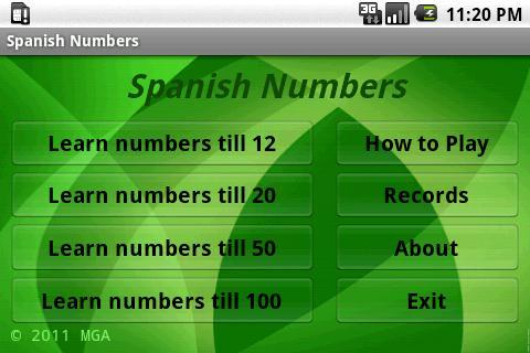 學習西班牙語號碼