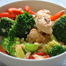 Salmon and Broccoli Stir Fry