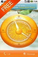 Screenshot of Orange Watch Free MXHome Theme