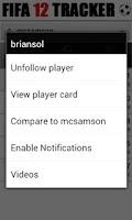 Screenshot of Tracker - for FIFA 12