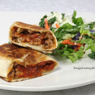Cheeseburger Pizza Wraps