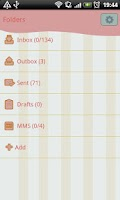 Screenshot of GO SMS Pro Sweet Paris Theme
