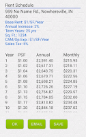 Screenshot of Commercial Rent Calculator