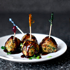 Scallion Meatballs with Soy-Ginger Glaze