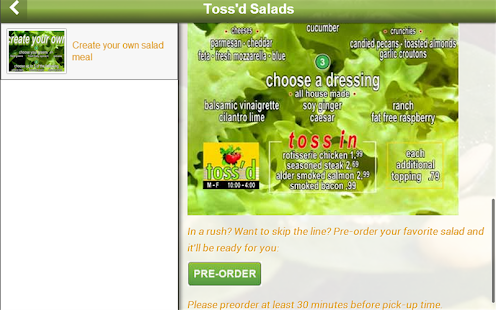 Toss'd Salads - screenshot