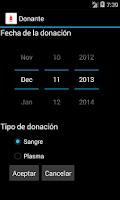 Screenshot of Donante